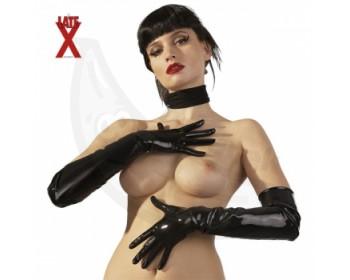 Fotka 1 - Latexové rukavice pro vzrušivé dotyky leskle černé