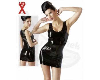 Fotka 1 - Latexové minišaty luxusní leskle černé