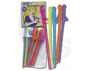 Fotka 1 - Koktejlová penis míchátka žertovný dárek pestré barvy