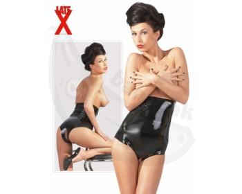 Fotka 1 - Latexové kalhotky s vysokým pasem otevřeným klínem černá