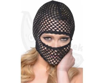 Fotka 1 - Erotická síťovaná maska Fishnet Hood