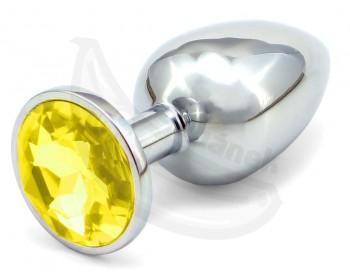 Fotka 1 - Anální kovový kolík se žlutým krystalem větší