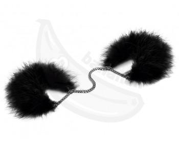 Fotka 1 - Luxusní černé peříčková pouta Bijoux Indiscrets černá
