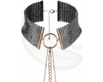 Fotka 1 - Černý náhrdelník/obojek Désir Métallique Black černá
