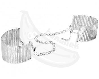 Fotka 1 - Luxusní stříbrná pouta Métallique Silver stylové náramky stříbrná