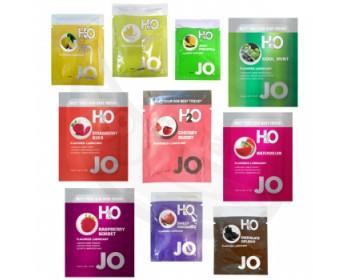 Fotka 1 - Ochutnávky lubrikantů System JO H2O mix příchutí, 10 x 3 ml