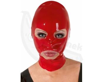 Fotka 1 - Latexová červená maska elastická