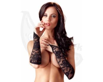 Fotka 1 - Návleky na ruce z černé krajky
