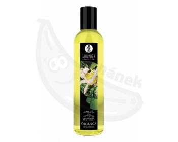 Fotka 1 - Erotický BIO masážní olej Shunga Green (250 ml) s aroma zeleného čaje