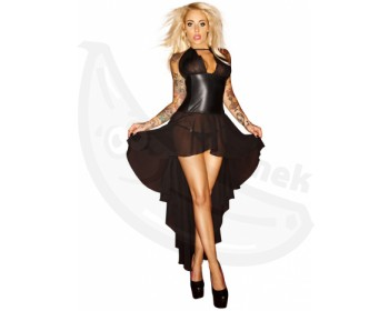 Fotka 1 - Korzetové šaty s dlouhou asymetrickou sukní