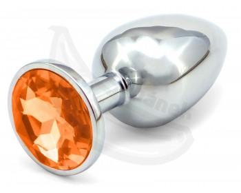 Fotka 1 - Anální kovový kolík s oranžovým krystalem