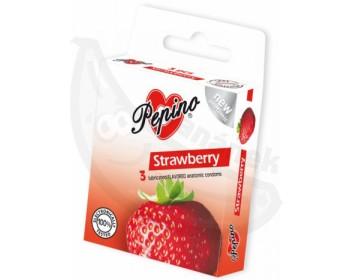 Fotka 1 - Kondomy Pepino (3ks) s příchutí jahod
