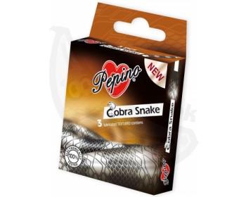 Fotka 1 - Kondomy Pepino Cobra Snake s motivem hadí kůže (3 ks)