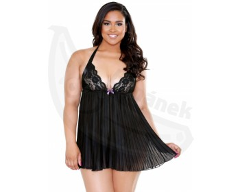 Fotka 1 - Erotická noční košilka Sarah od Fantasy Lingerie PLUS SIZE černá