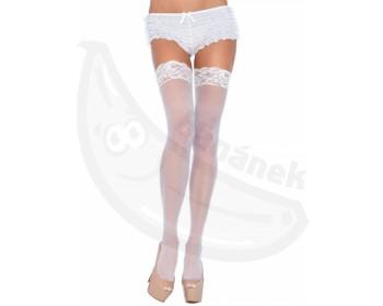 Fotka 1 - Bílé průsvitné sexy punčochy Leg Avenue