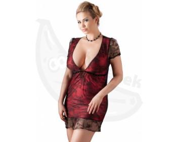 Fotka 1 - Erotické minišaty zdobené krajkou pro plnější tvary