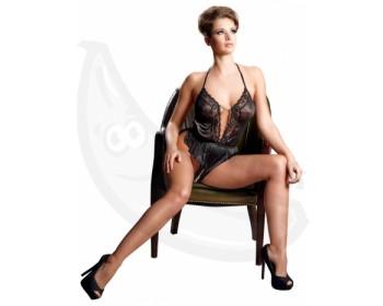Fotka 1 - Erotické body s otevřeným rozkrokem zdobené krajkou a řetízkem