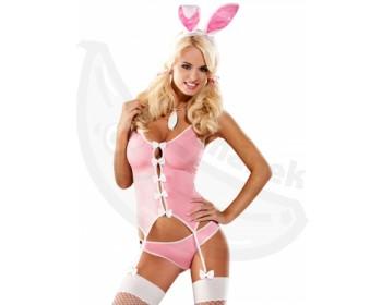 Fotka 1 - Dámský erotický kostým růžového králíčka