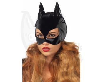 Fotka 1 - Lakovaná maska s kočičíma ušima Kočičí žena