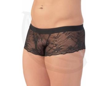 Fotka 1 - Pánské průsvitné krajkové boxerky krátké nohavičky