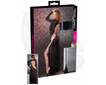 Fotka 1 - Dlouhé sexy černé šaty Cottelli Collection