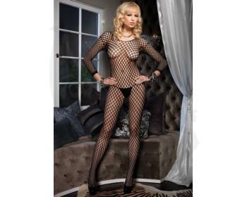 Fotka 1 - Erotický catsuit z elastického materiálu s kulatými oky