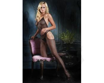 Fotka 1 - Erotický síťovaný catsuit Leg Avenue