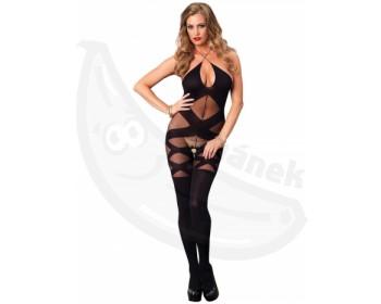 Fotka 1 - Erotický catsuit s otevřeným rozkrokem Leg Avenue