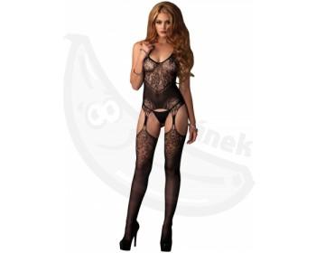 Fotka 1 - Erotický catsuit imitujíci top s podvazky