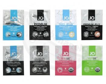 Fotka 1 - Balíček lubrikantů System JO 8 x 3 ml