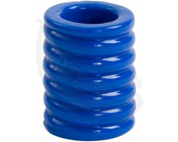 Fotka 1 - Erekční kroužek Cock Cage Blue pro zaškrcení penisu