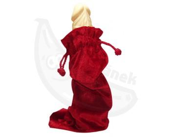 Fotka 1 - Sametový povlak na vibrátory a další erotické pomůcky červený