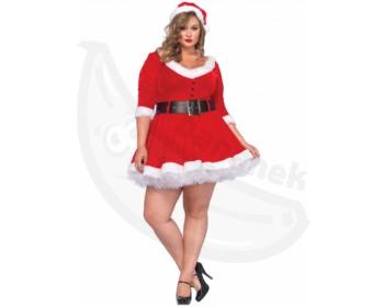 Fotka 1 - Dámský erotický vánoční kostým velké velikosti