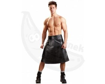 Fotka 1 - Pánská černá zavinovací sukně imitace kůže