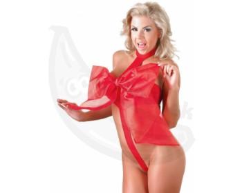 Fotka 1 - Červené erotické body s mašlí