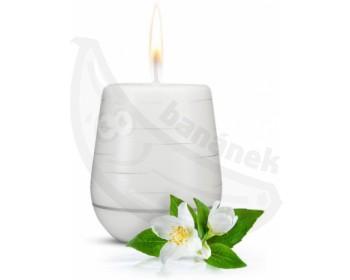Fotka 1 - Afrodiziakální vonná svíčka Jasmine Romance s vůní jasmínu