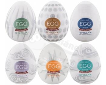 Fotka 1 - Výhodné balení masturbátorů pro muže TENGA Egg Stronger 6 ks