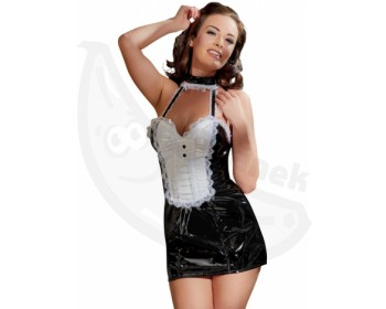 Fotka 1 - Černobílý erotický kostým servírky s kraječkou