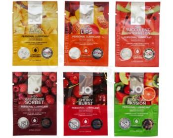 Fotka 1 - Balíček ovocných lubrikantů System JO 6 x 3 ml