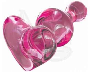 Fotka 1 - Růžový skleněný anální kolík ICICLES No. 75