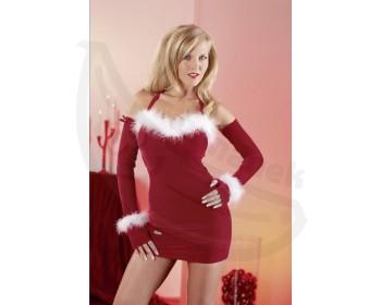 Fotka 1 - Vánoční minišaty svátečně sexy červené