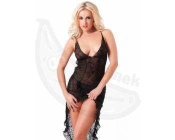 Fotka 1 - Černé průsvitné sexy šaty Amorable