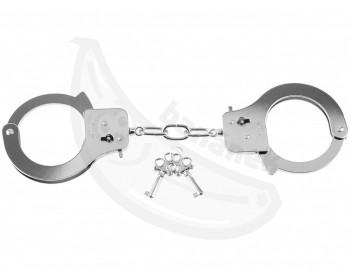 Fotka 1 - Stříbrná kovová pouta Designer Cuffs