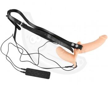 Fotka 1 - Dvojitý vibrační připínací penis Duo