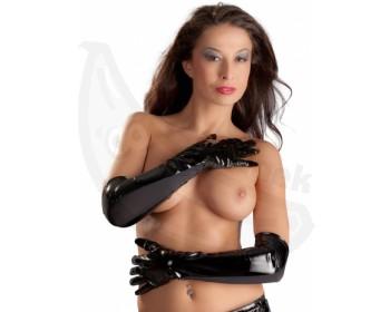 Fotka 1 - Dlouhé lakované rukavice Black Level