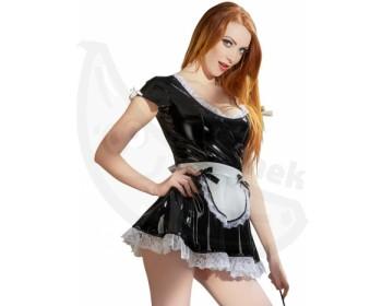 Fotka 1 - Černobílý lakovaný erotický kostým Servírka