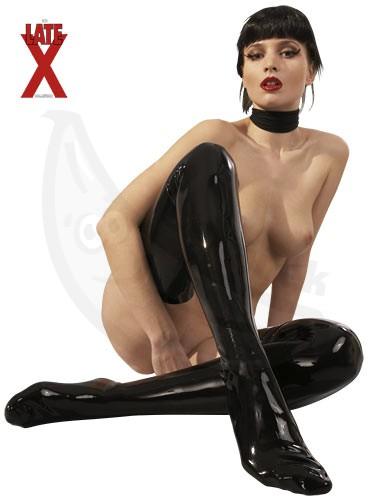 Fotka 1 - Latexové punčochy pro sexy dračice leskle černé 7e9acca613