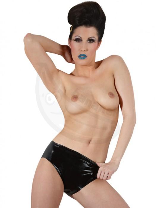 8283c69a0b2 Fotka 1 - Černé spodní latexové kalhotky s vnitřním vaginálním dildem Fotka  2 ...