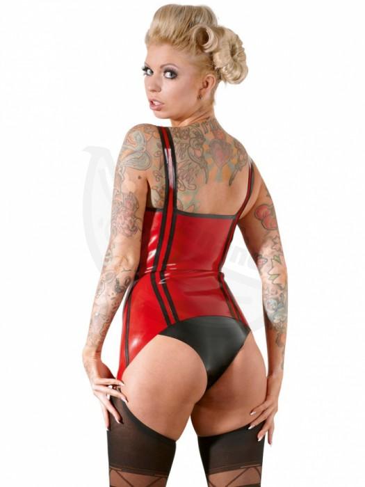 ... Fotka 2 - Erotický červený latexový top s podvazky ... b4437b11ad